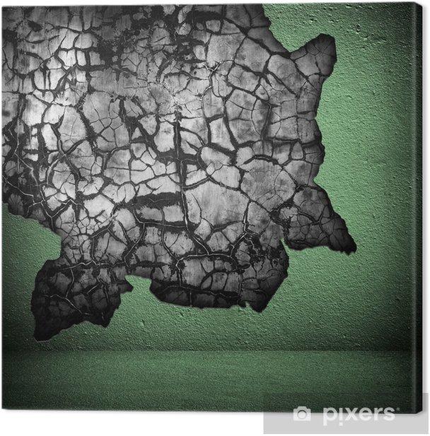 Leinwandbild Gebrochene Wand - Leben