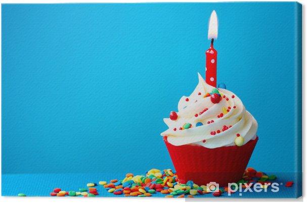 Leinwandbild Geburtstag Cupcake Pixers Wir Leben Um Zu Verandern