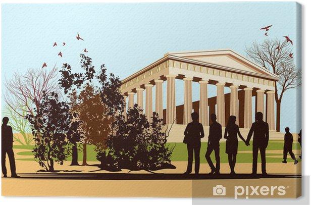 Leinwandbild Gehen die Menschen in Griechenland - Europäische Städte