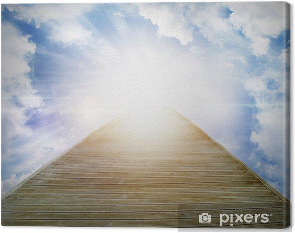 Leinwandbild Gehweg zum Himmel - Himmel