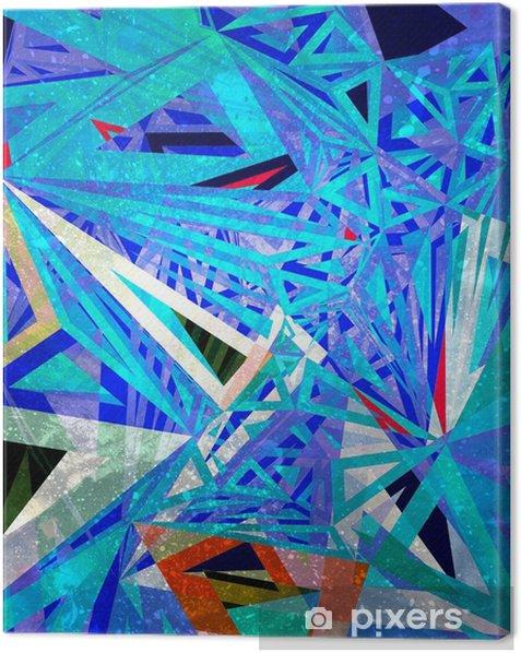 Leinwandbild Geometrischer Hintergrund des abstrakten Aquarells - Grafische Elemente