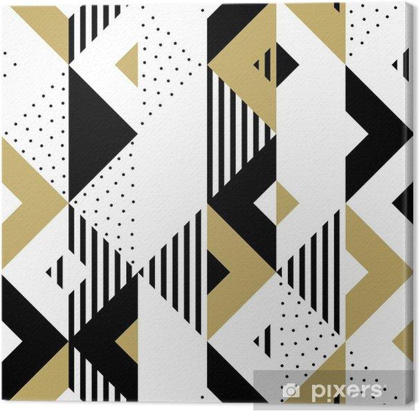 Leinwandbild Geometrisches Abstraktes Goldenes Nahtloses Muster Des