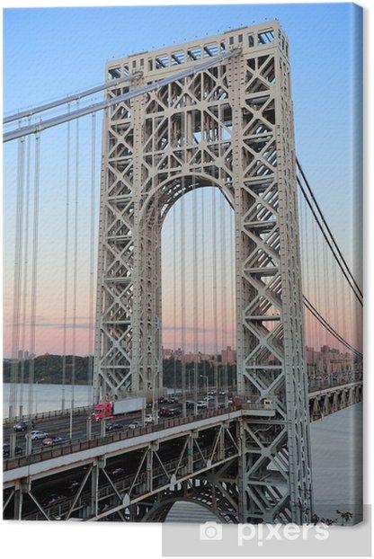 Leinwandbild George washington bridge - Amerikanische Städte