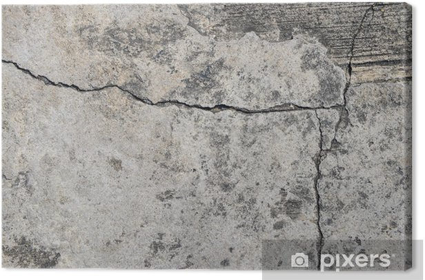Leinwandbild Gerissenen Beton Textur Nahaufnahme Hintergrund - Themen