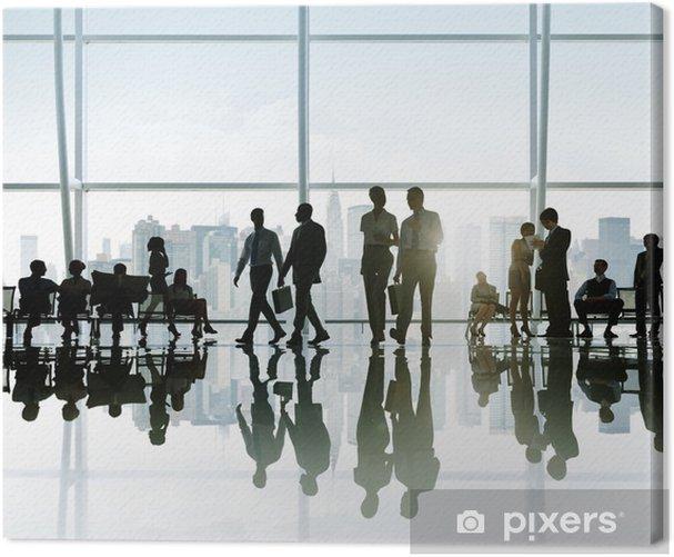 Leinwandbild Geschäftsleute, die einen Bruch in New York - Geschäftsleben