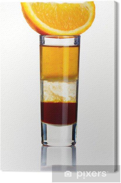 Leinwandbild Geschnittene kurzen Alkohol Cocktail isoliert auf weiß - Alkohol