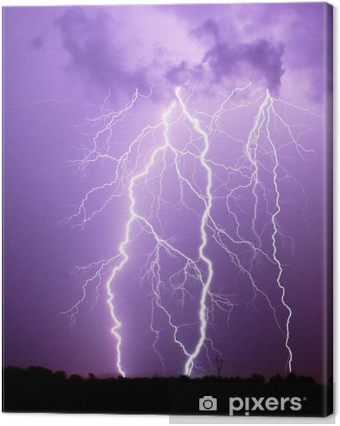Leinwandbild Gewitter - Naturkatastrophen