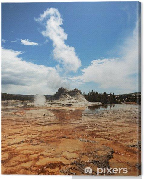 Leinwandbild Geysir in Yellowstone - Natur und Wildnis