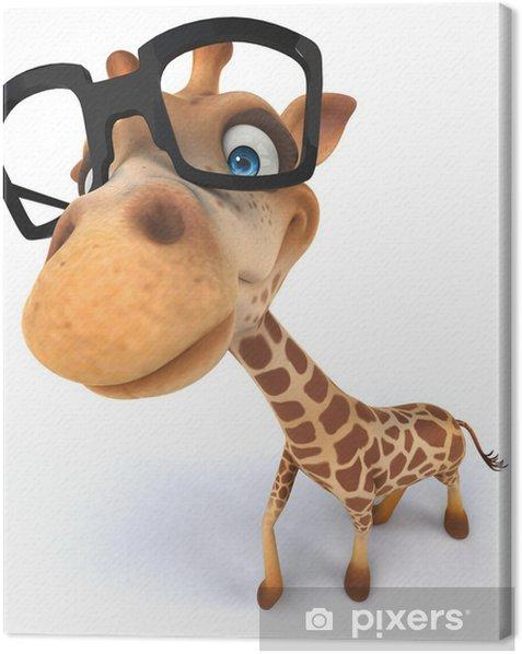 Leinwandbild Giraffe - Zeichen und Symbole