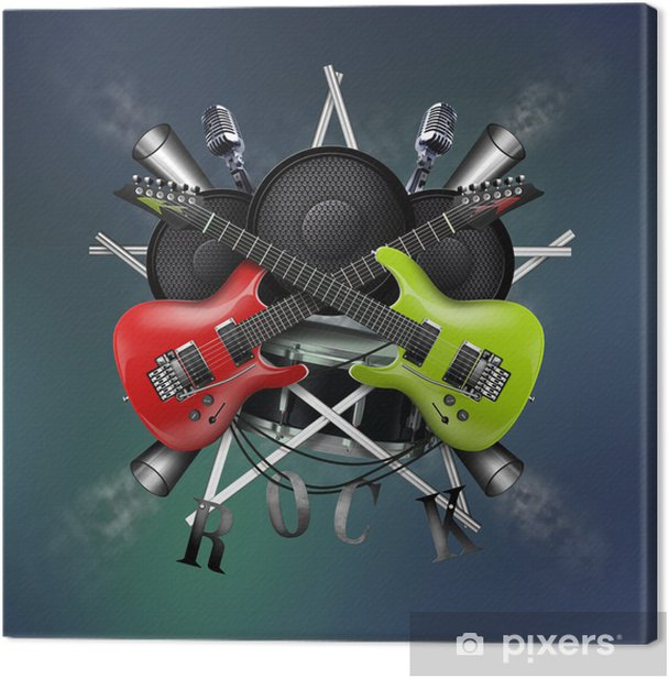 Leinwandbild Gitarre und Rock-Radio - Themen