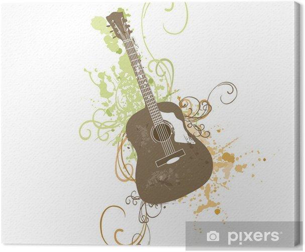 Leinwandbild Gitarre - Themen