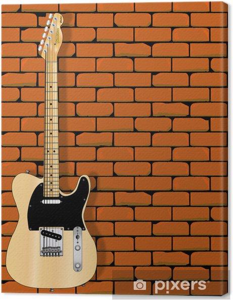 Leinwandbild Gitarrenwand - Themen