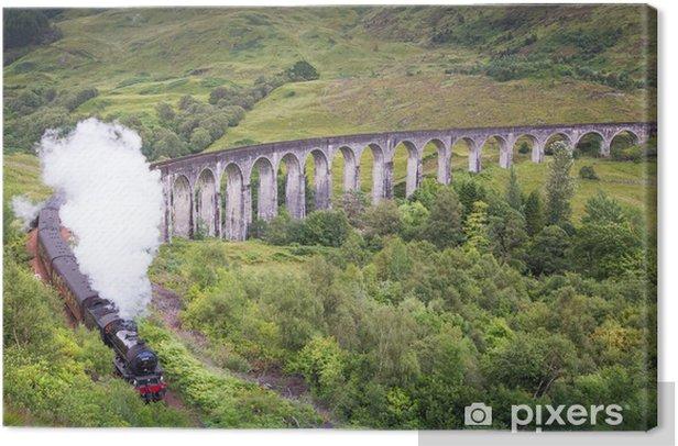 Leinwandbild Glenfinnan Viadukt - Europa