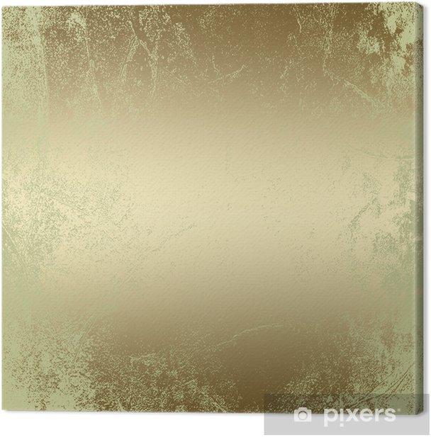 Leinwandbild Gold abstrakte Grunge Hintergrundmuster, Vintage Textur - Hintergründe