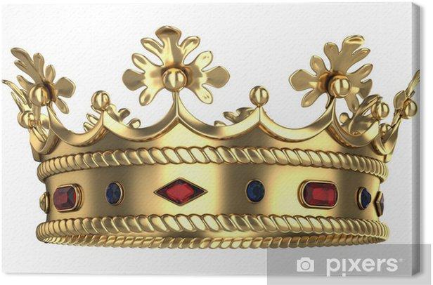 Leinwandbild Goldene königliche Krone - Nationale Ereignisse