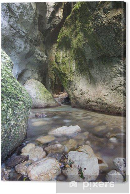 Leinwandbild Gole dell'Infernaccio - Monti-Sibillini- - Wasser