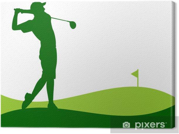 Leinwandbild Golfe - Jogador dando uma Tacada - Hintergründe