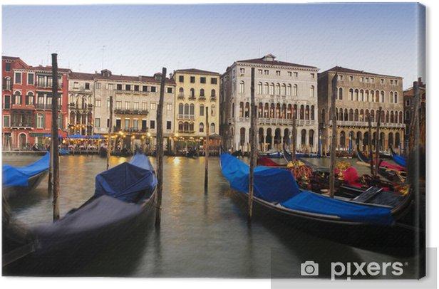 Leinwandbild Gondeln in Venedig, Italien. - Urlaub