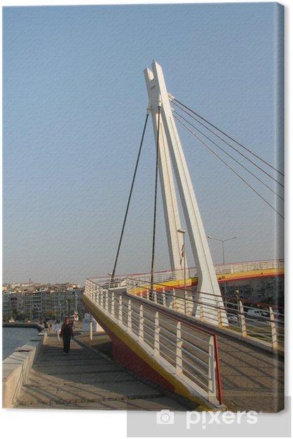 Leinwandbild Goztepe Brücke in Izmir 2 - Naher Osten