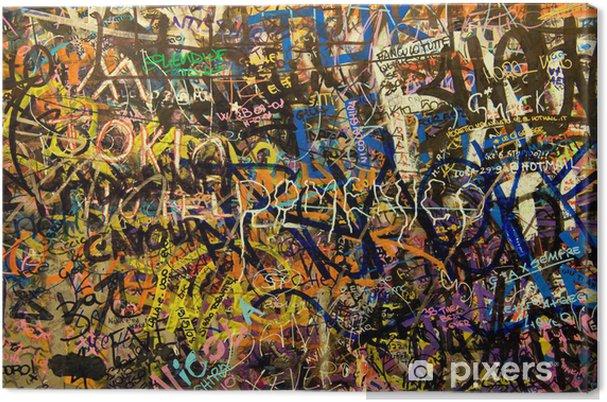 Leinwandbild Graffiti Hintergrund - Hintergründe