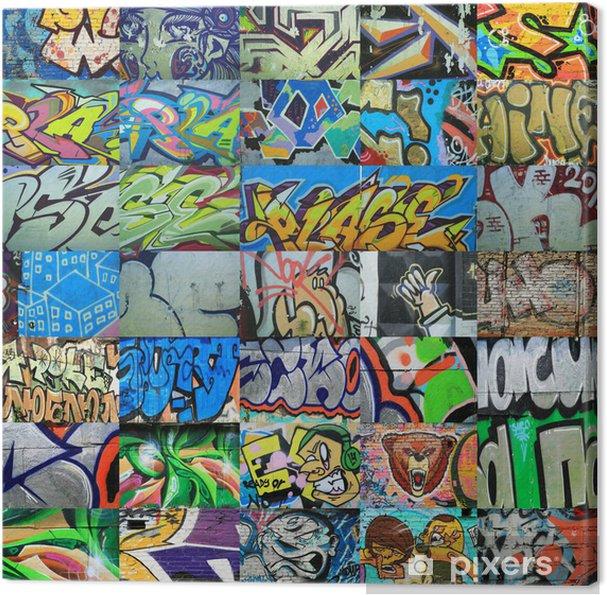 Graffiti Farben.Leinwandbild Graffiti Wände Gemalt Farben Hintergrund Kultur Der Straße