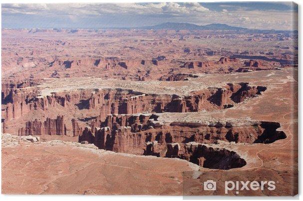 Leinwandbild Grand View Point Over in Canyonlands Nationalpark - Naturwunder