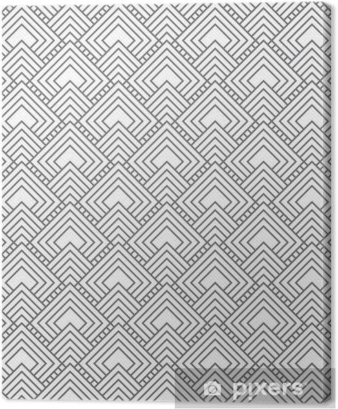 Leinwandbild Grau quadratischen Fliesen Muster-Wiederholung Hintergrund