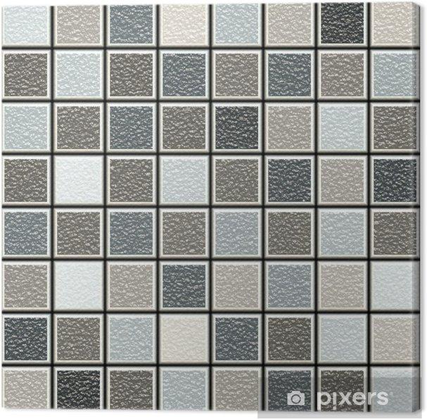 Leinwandbild Grau und braun 3D-Struktur Fliesen Muster