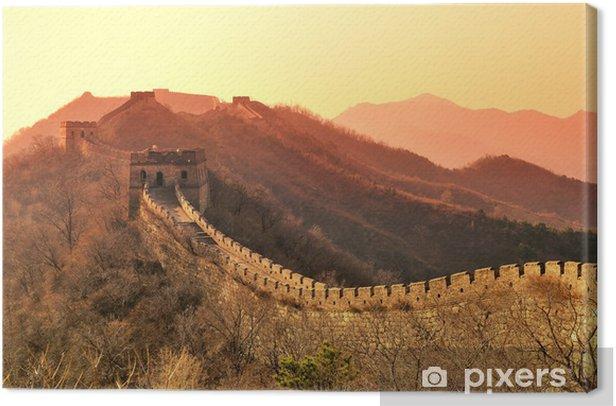Leinwandbild Great Wall Morgen - Denkmäler