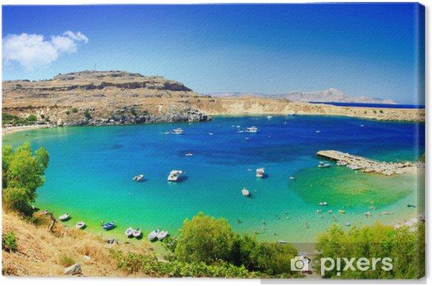 Leinwandbild Griechische Feiertage Schöne Strände Der Insel Rhodos