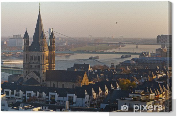 Leinwandbild Groß St. Martin, Kölner Altstadt - Europa