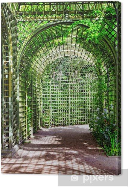 Leinwandbild Grün Torbogen In Einem Garten Schöne Versailles