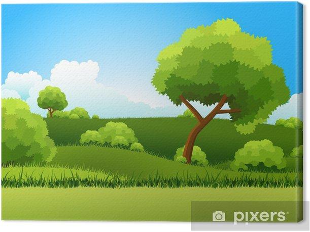 Leinwandbild Grüne Hügel - Jahreszeiten