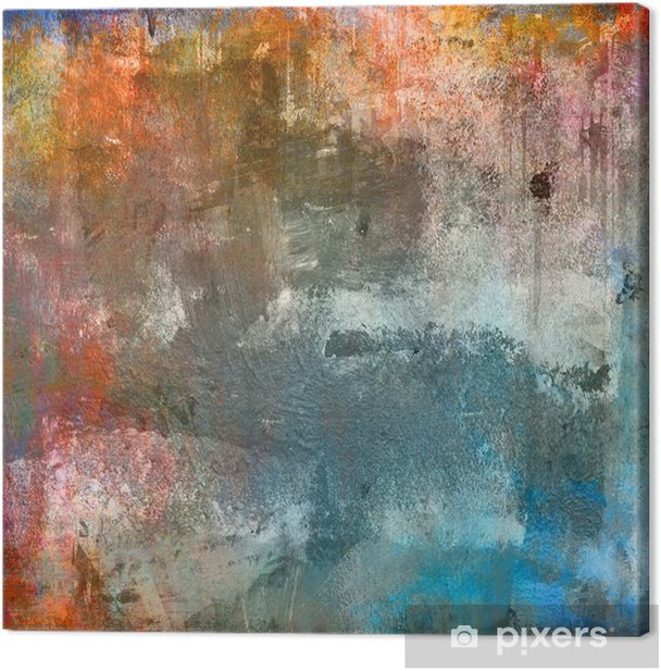 Leinwandbild Grunge farbigen Hintergrund - Themen