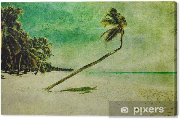 Leinwandbild Grunge Strand - Jahreszeiten