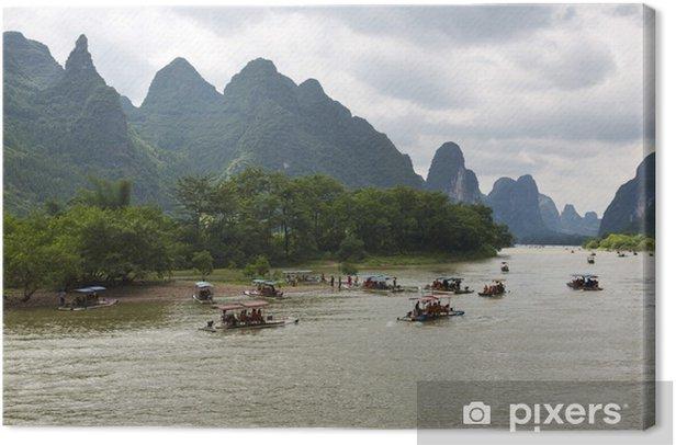 Leinwandbild Guilin Karst Berge Landschaft - Asien