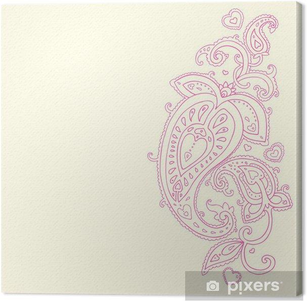 Leinwandbild Hand Drawn Paisley Ornament. - Stile