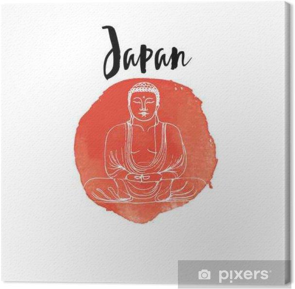 Leinwandbild Hand gezeichnet Japan - Reisen