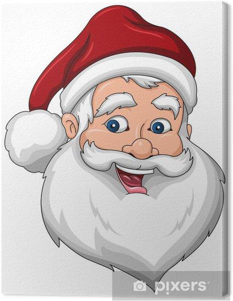 Leinwandbild Happy Santa Claus Gesicht Seitenansicht - Internationale Feste
