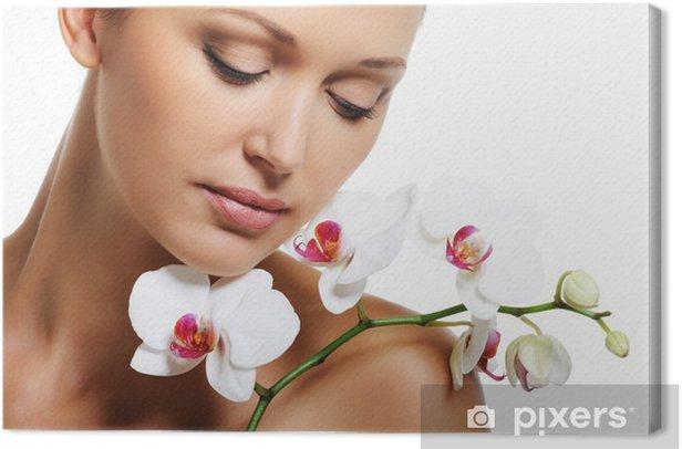 Leinwandbild Haut Behandlung für Schönheit erwachsene Frau - Bereich