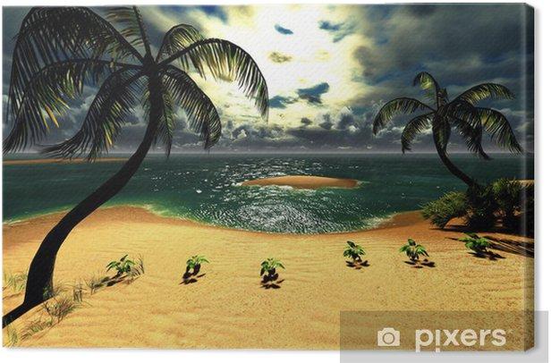 Leinwandbild Hawaiian Sonnenuntergang im tropischen Paradies - Natur und Wildnis