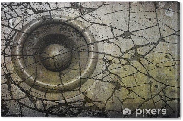 Leinwandbild HD 3d render grunge alten Lautsprecher-Soundsystem Diskjockey DJ - Hip Hop