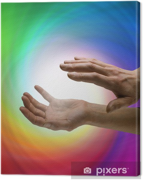 Leinwandbild Heiler die Arbeit mit Energiewirbel - Gesundheit & Medizin