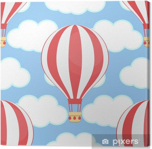 Leinwandbild Heißluftballon, Himmel, Wolken, nahtlos - Industrie