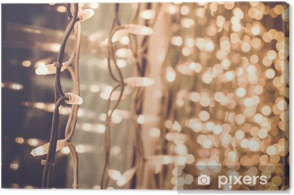 Weihnachtsbeleuchtung Dachfenster.Leinwandbild Hell Herrlich Schöne Weihnachtsbeleuchtung Auf Dem Fenster In Der