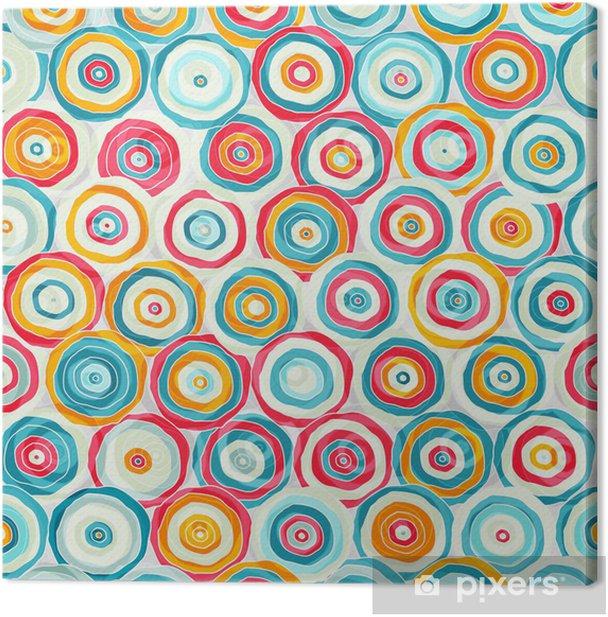 Leinwandbild Helle abstrakte psychedelischen nahtlose Muster - Hintergründe