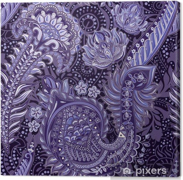 Leinwandbild Helles nahtloses Muster in Paisley-Stil. bunter Hintergrund - Grafische Elemente