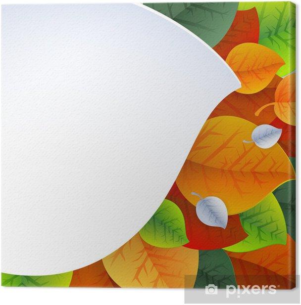 Leinwandbild Herbst Hintergrund für Stoff-, Web-, Print. Regenbogenfarben - Jahreszeiten