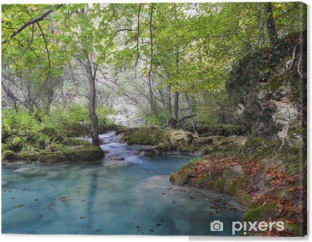 Leinwandbild Herbstlandschaft mit türkis water.Northern Spanien. - Themen