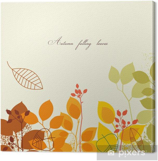 Leinwandbild Herbstliche Blätter Hintergrund - Jahreszeiten